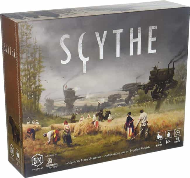 Scythe is listed (or ranked) 4 on the list The Most Popular 2 Player Board Games