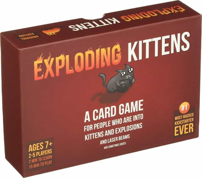 Exploding Kittens is listed (or ranked) 4 on the list The Most Popular 2 Player Board Games