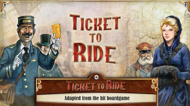 Ticket to Ride is listed (or ranked) 1 on the list The Best Board Game Apps