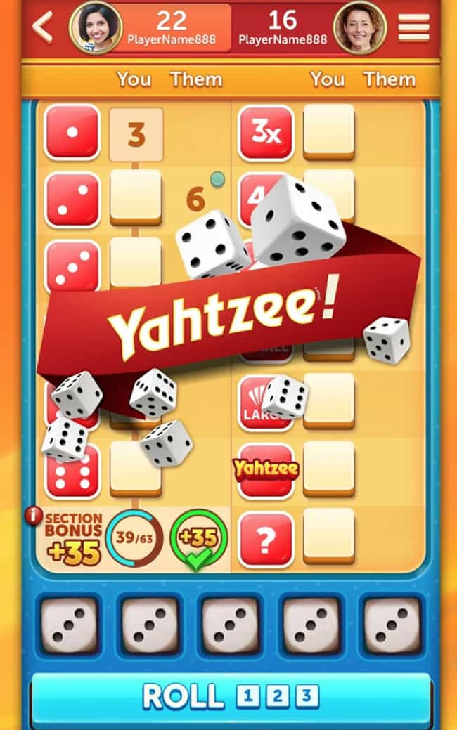 YAHTZEE® With Buddies is listed (or ranked) 3 on the list The Best Board Game Apps