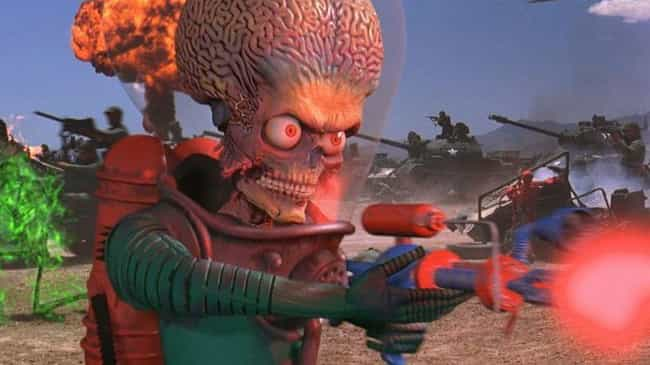The Film Is Full Of Mayh... is listed (or ranked) 3 on the list 'Mars Attacks!' Was Tim Burton's Ultimate Unregulated Experiment And It's Stranger Than You Remember
