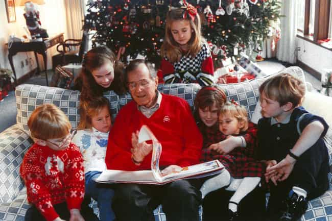 Bush Sr. Reading To His Grandc... is listed (or ranked) 3 on the list Intimate Behind-The-Scenes Photos Of The Bush Family Like You've Never Seen Them Before