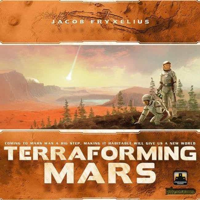 Terraforming Mars is listed (or ranked) 3 on the list Best Single Player Board Games