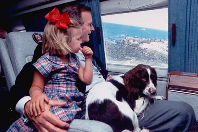 Bush Sr. With His Granddaughte... is listed (or ranked) 2 on the list Intimate Behind-The-Scenes Photos Of The Bush Family Like You've Never Seen Them Before