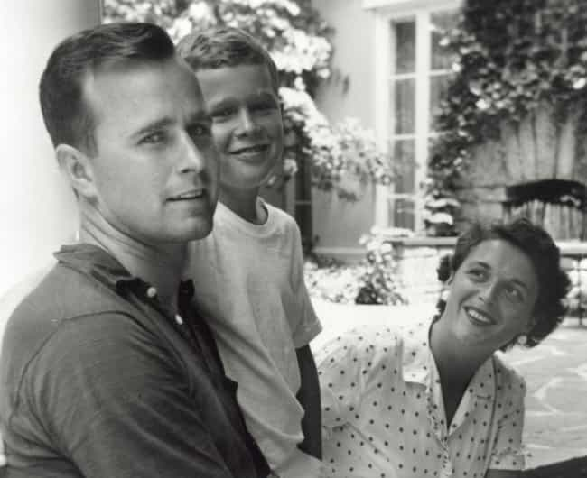 Bush Sr. With His Son George A... is listed (or ranked) 1 on the list Intimate Behind-The-Scenes Photos Of The Bush Family Like You've Never Seen Them Before