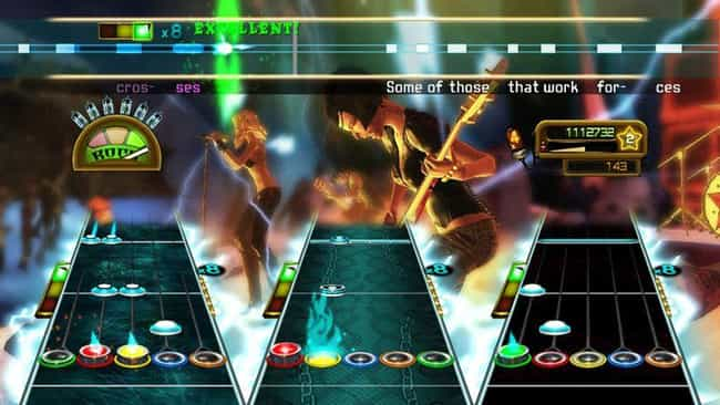 'Guitar Hero: World Tour' Adde... is listed (or ranked) 6 on the list The Rise And Ignominious Fall Of The 'Guitar Hero' Empire