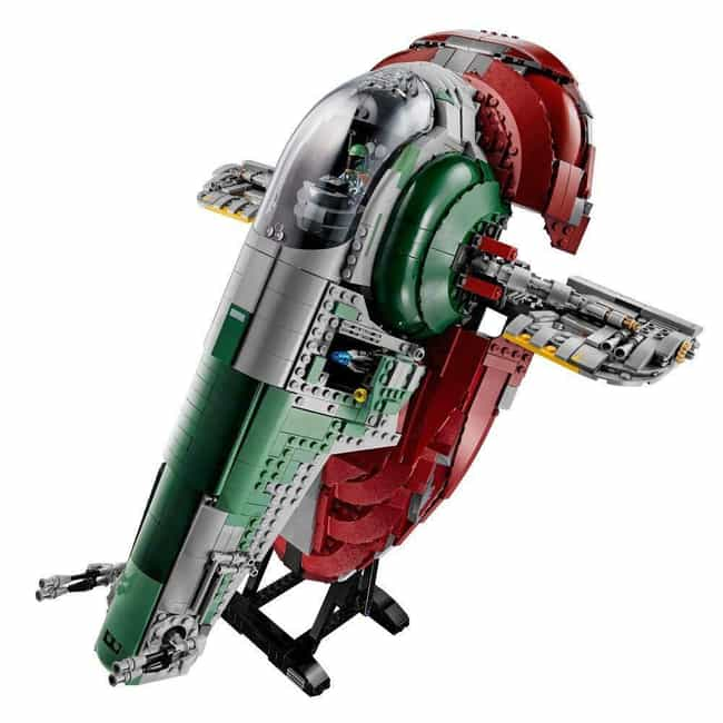 Slave I is listed (or ranked) 4 on the list The Best LEGO Sets Over 1,000 Pieces