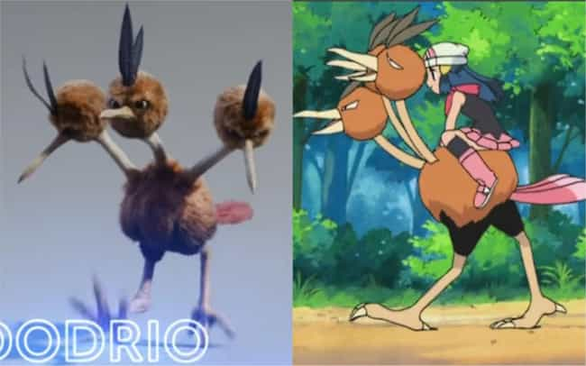 Dodrio is listed (or ranked) 4 on the list How The 'Detective Pikachu' Pokémon Compare To Their Anime Counterparts