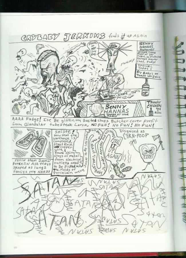 He Drew Wacky Comics is listed (or ranked) 1 on the list An Inside Look At Kurt Cobain's Journals
