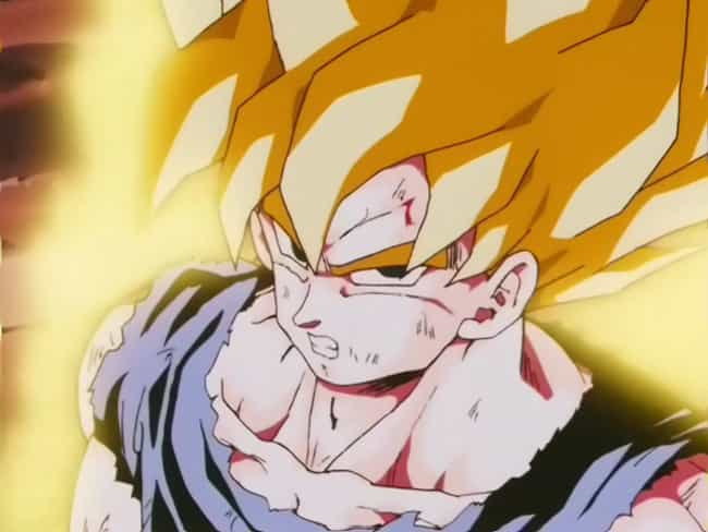 Goku Turns Super Saiyan For Th... is listed (or ranked) 3 on the list The 20 Most Epic Moments From Dragon Ball Z