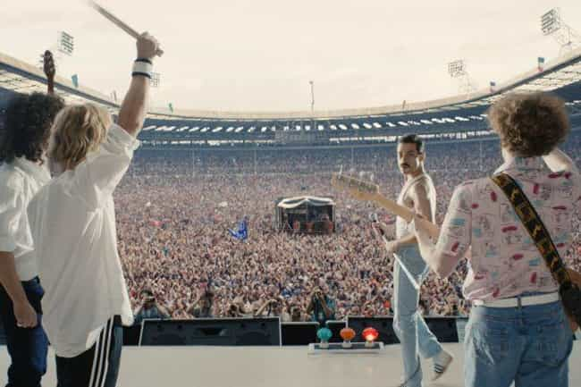 The Cast Filmed The Live... is listed (or ranked) 1 on the list How 'Bohemian Rhapsody' Recreated Queen's Legendary Live Aid Performance