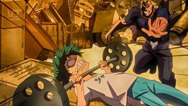 Izuku Midoriya Cleans A ... is listed (or ranked) 4 on the list The 15 Most Insane Anime Training Sessions of All Time