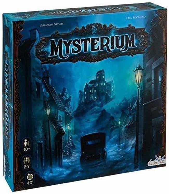Mysterium is listed (or ranked) 2 on the list The Most Popular Cooperative Board Games