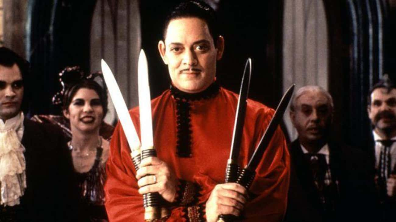 Raul Julia Caught His Own Eye is listed (or ranked) 1 on the list Dark And Morbidly Funny Behind-The-Scenes Stories From The '90s Addams Family Films