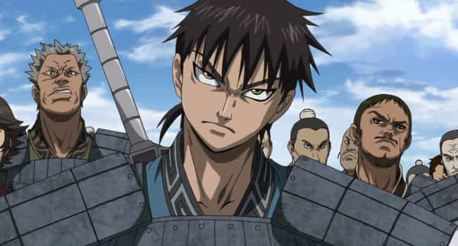 Kingdom is listed (or ranked) 4 on the list 14 Exciting Action Anime Where Characters Don't Have Special Powers