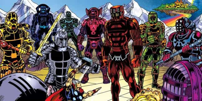 The Celestials Are Basic... is listed (or ranked) 1 on the list The Eternals Could Be The Next MCU Big Bad, And Thanos Isn't Even The Strongest One