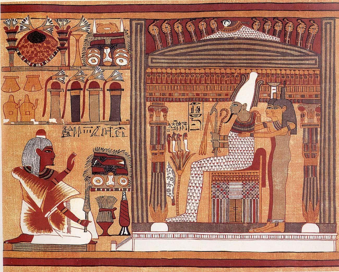 Khonsu, The Egyptian God Of The Moon, Ate Hearts