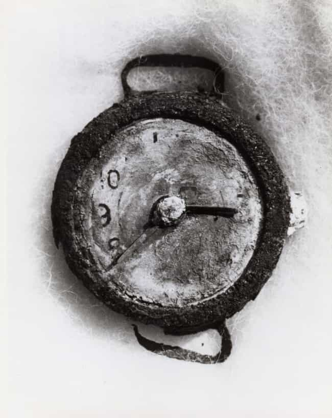 Wrist Watch Stopped At 8:15 Fo... is listed (or ranked) 2 on the list The Most Haunting Photos Of Hiroshima, Taken In The Aftermath Of The Atomic Bomb
