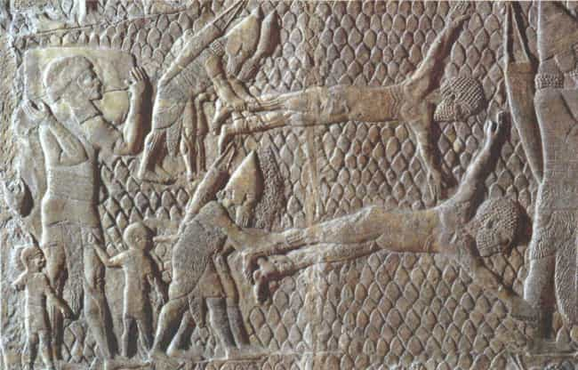 Assyrian Prisoners Of Wa... is listed (or ranked) 1 on the list 14 Deliberately Evil Historical Punishments Designed To Be More Painful Than Death