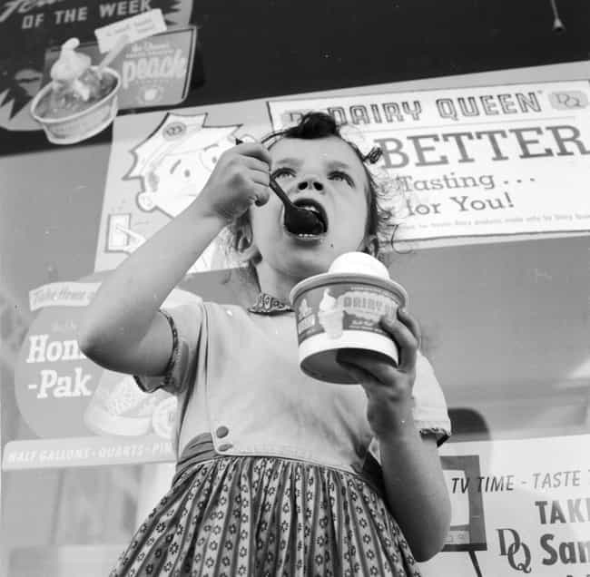 A Girl With Her Dairy Queen - ... is listed (or ranked) 4 on the list Photos Of How Fast Food Changed Over The Years