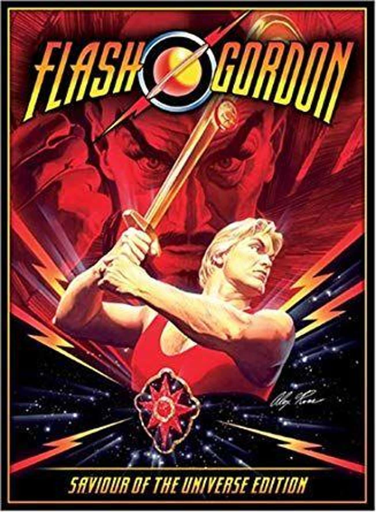 Freddie Mercury Designed The  is listed (or ranked) 4 on the list Behind-The-Scenes Stories From The Set Of The '80s 'Flash Gordon'