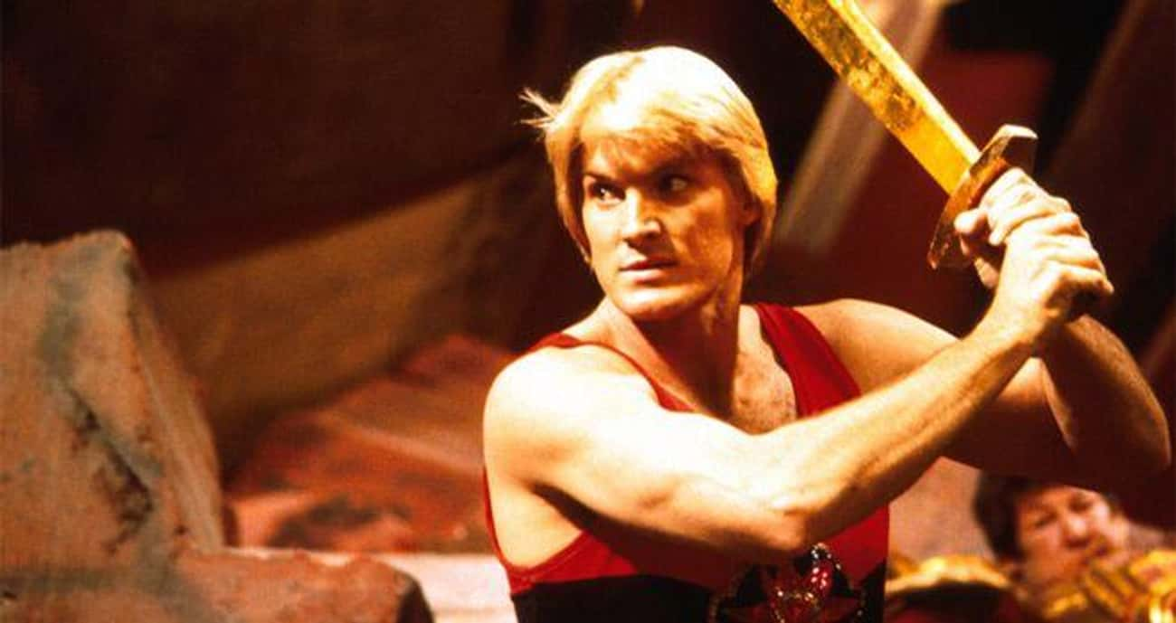 Kurt Russell And Arnold Schwar is listed (or ranked) 2 on the list Behind-The-Scenes Stories From The Set Of The '80s 'Flash Gordon'