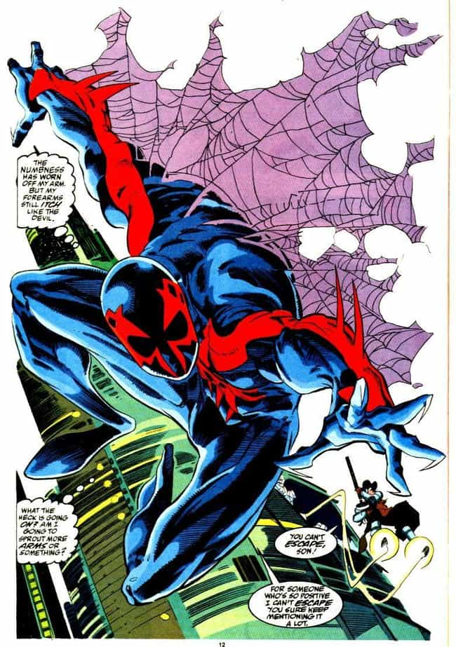 Miguel O'Hara Is The Spi... is listed (or ranked) 2 on the list Who Is Spider-Man 2099, The Mysterious Character From The 'Into The Spider-Verse' Post-Credits Scene