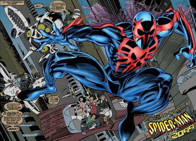 Spider-Man 2099's Origin... is listed (or ranked) 3 on the list Who Is Spider-Man 2099, The Mysterious Character From The 'Into The Spider-Verse' Post-Credits Scene