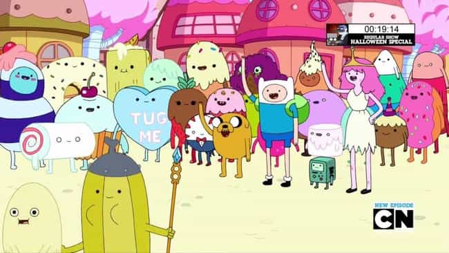 A Suggestive Candy Heart... is listed (or ranked) 1 on the list Adult Jokes In 'Adventure Time' You Missed The First Time