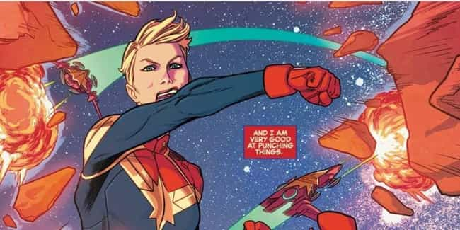 Her Punch Has The Force Of 92 ... is listed (or ranked) 3 on the list How Strong Is Captain Marvel, Really?