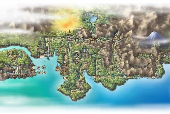 Johto Region is listed (or ranked) 4 on the list The Best Pokémon Regions