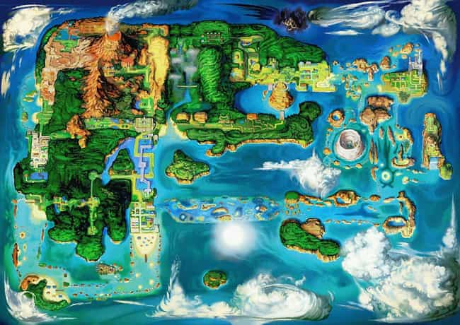 Hoenn Region is listed (or ranked) 2 on the list The Best Pokémon Regions