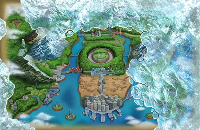 Unova Region is listed (or ranked) 3 on the list The Best Pokémon Regions