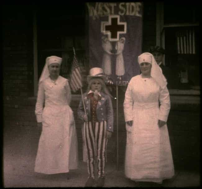 Two Nurses And A Child D... is listed (or ranked) 2 on the list Haunting Colorized Photos Of WWI