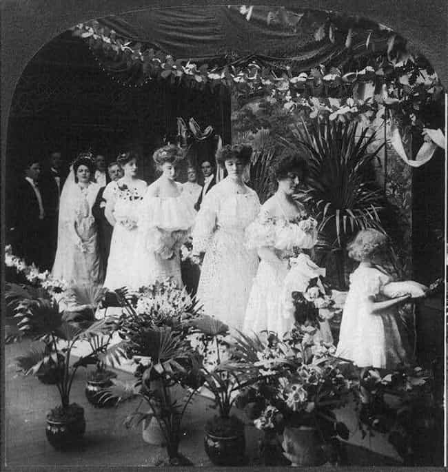 Bridal Procession, 1905 is listed (or ranked) 3 on the list Hauntingly Beautiful Turn-Of-The-20th-Century Wedding Photos Show How Weddings Haven't Changed Much