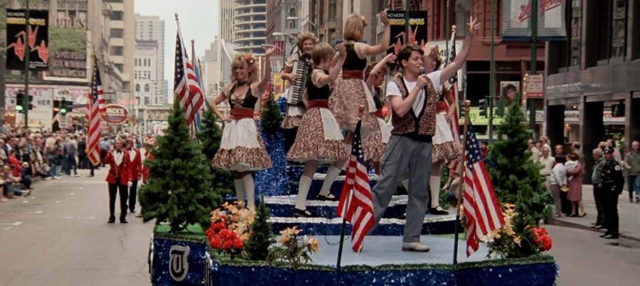 The Filmmakers Sneaked A Float Into A Real Parade