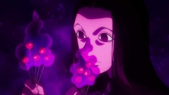 Illumi Zoldyck - Hunter X Hunt... is listed (or ranked) 2 on the list The 15 Best Anime Characters That Fight With Needles
