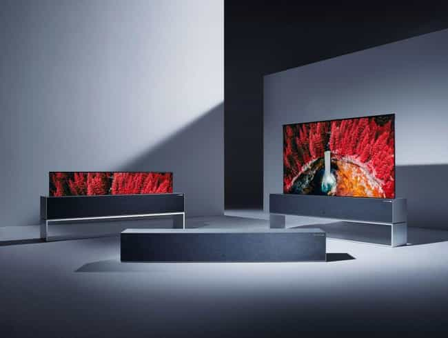 LG's New TV Rolls Away When No... is listed (or ranked) 1 on the list The Coolest New Tech In 2019