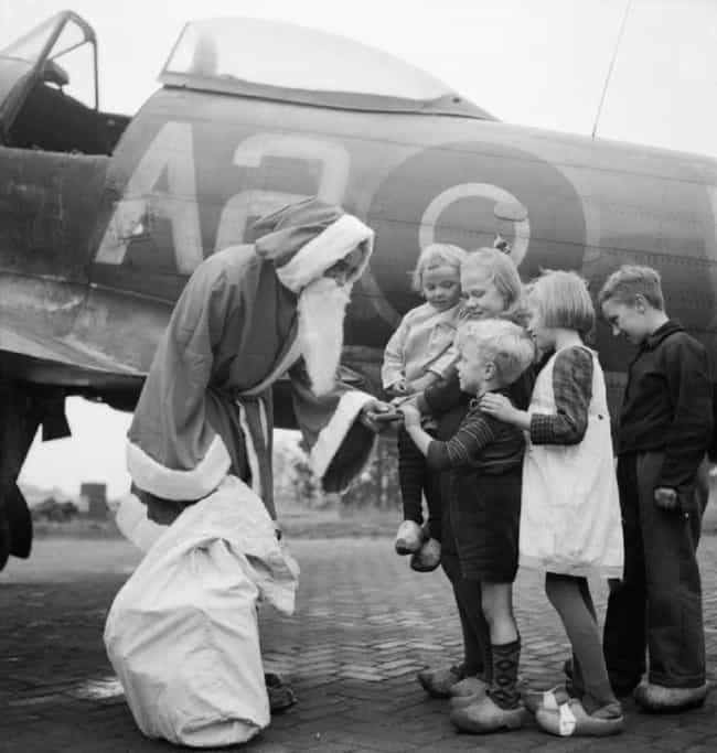 Airman Dressed As Santa Claus ... is listed (or ranked) 2 on the list Fascinating Photos That Show The Human Side Of WWII