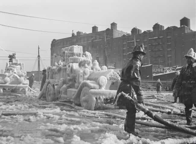 1920: Frozen Fire Trucks... is listed (or ranked) 4 on the list Utterly Fascinating Photos That Weren't In Your History Textbooks