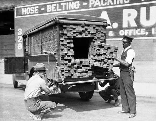 1926: A Lumber Truck Suspected is listed (or ranked) 7 on the list Utterly Fascinating Photos That Weren't In Your History Textbooks