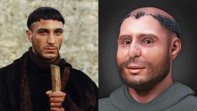 Daniele Liotti In 'Saint Antho... is listed (or ranked) 4 on the list Thanks To 3D CGI Recreations, We Can See How Actors Compare To The Historical Figures They Play
