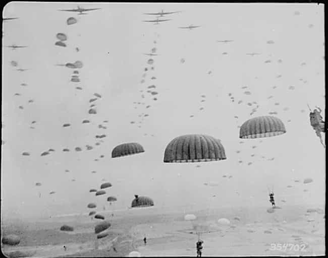 Parachutes Open As First Allie... is listed (or ranked) 2 on the list 20 Unsettlingly Beautiful Photos From The 1940s