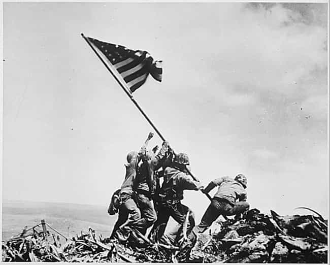 Flag Raising In Iwo Jima, 1945 is listed (or ranked) 1 on the list 20 Unsettlingly Beautiful Photos From The 1940s