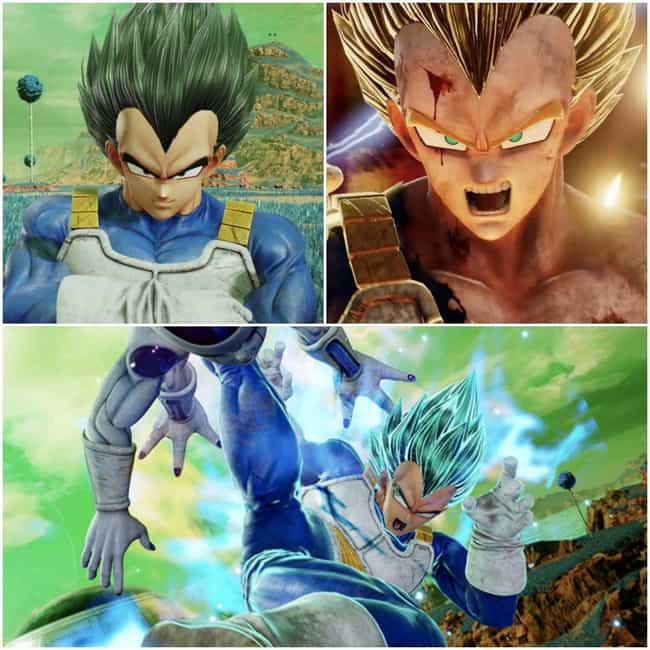 Vegeta is listed (or ranked) 4 on the list The Most Dramatic 'Jump Force' Transformations