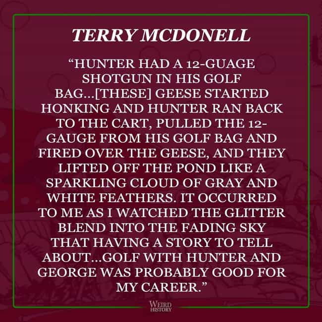 Terry McDonell Remembers... is listed (or ranked) 2 on the list Friends of Hunter S. Thompson Share Their Wildest Stories Featuring The Late Gonzo Journalist