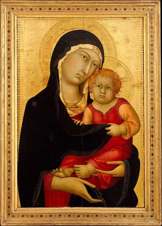 Jesus, The Most Famous Baby In... is listed (or ranked) 1 on the list Why Do Babies In Medieval Art Look Like Creepy Adults?
