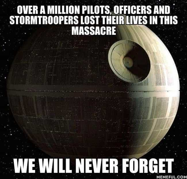 Never Forgive The Rebell... is listed (or ranked) 4 on the list 'Star Wars' Memes That Make It Perfectly Clear The Empire Did Nothing Wrong