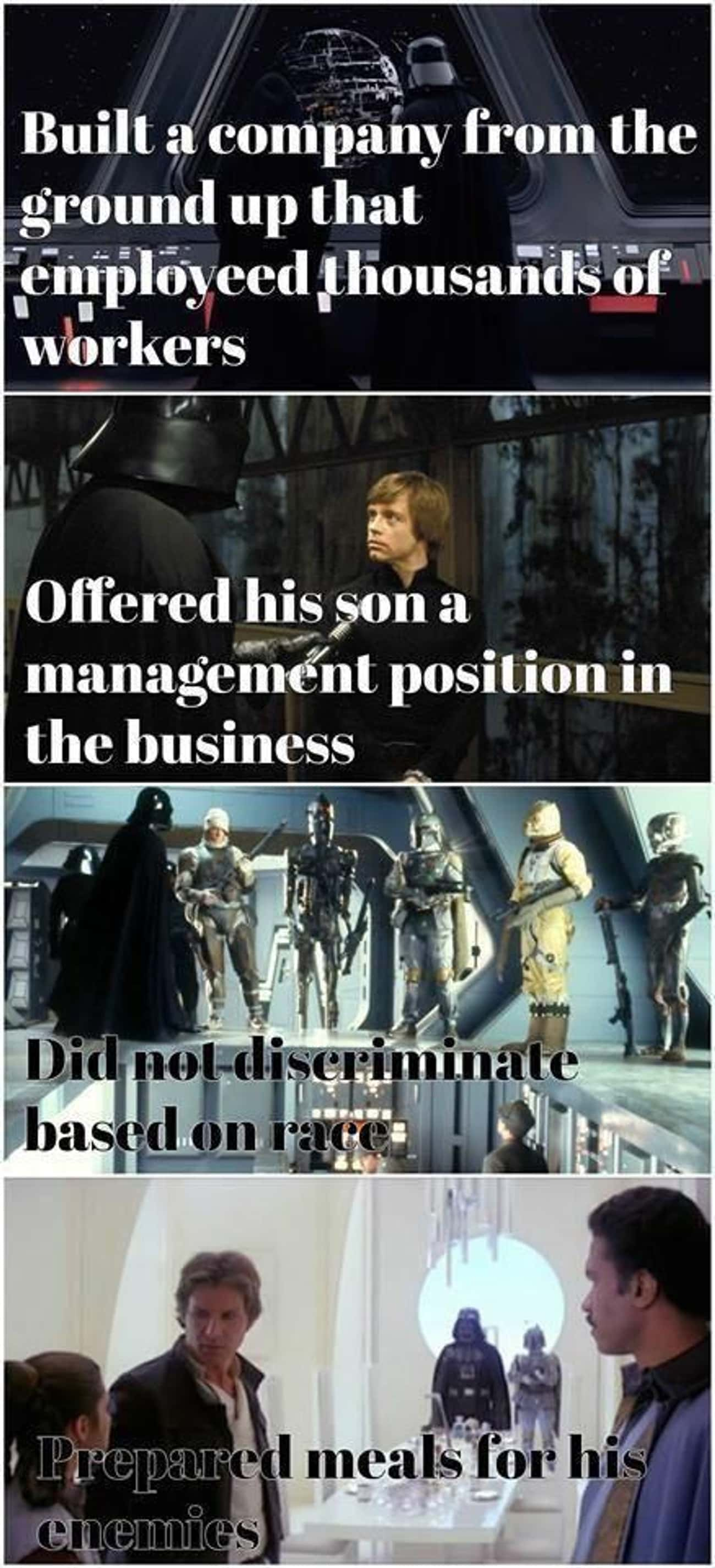 Lord Vader Is A Generous Leader