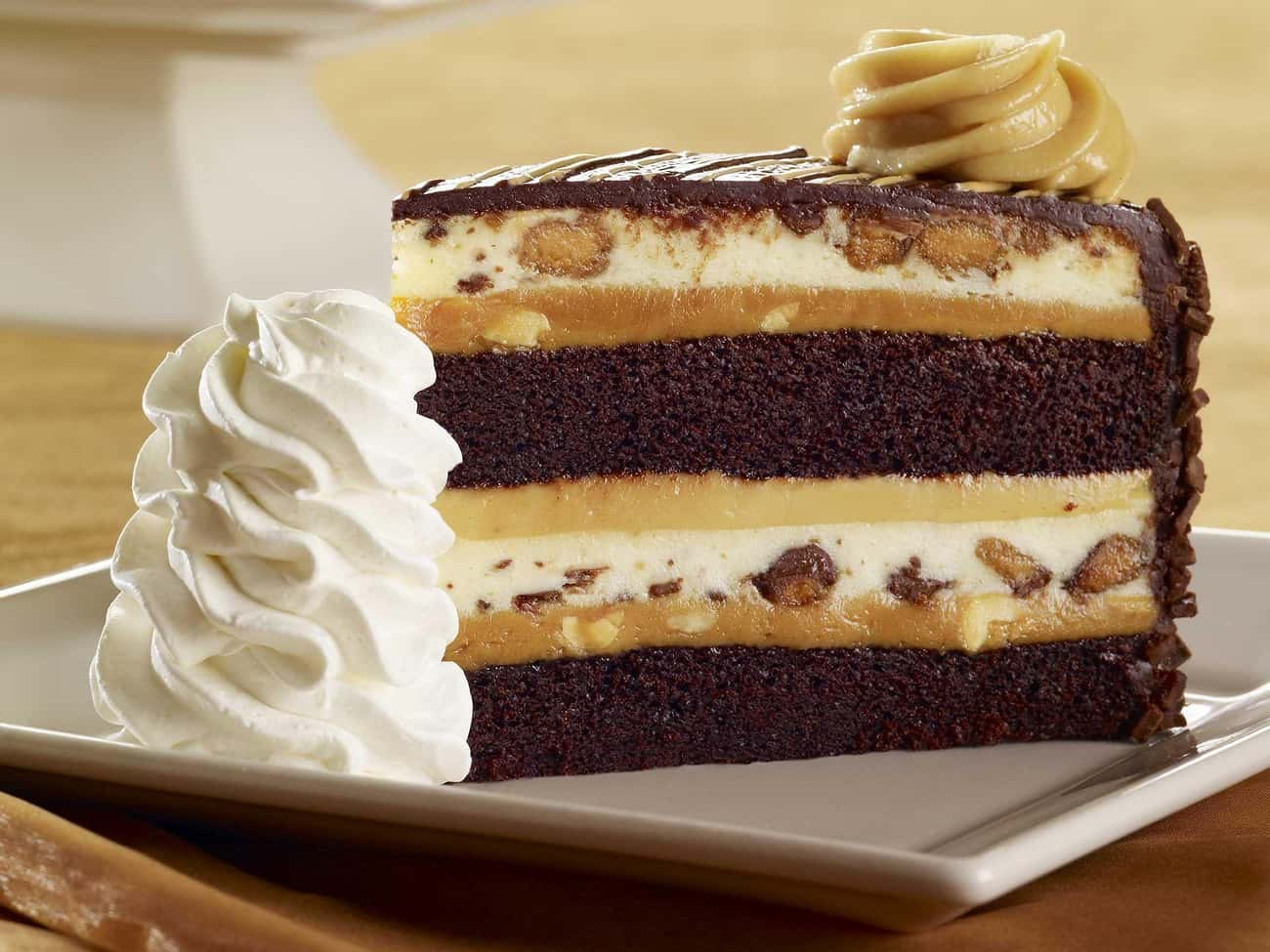 Reese's Peanut Butter Chocolat is listed (or ranked) 3 on the list The Best Cheesecakes At The Cheesecake Factory, Ranked